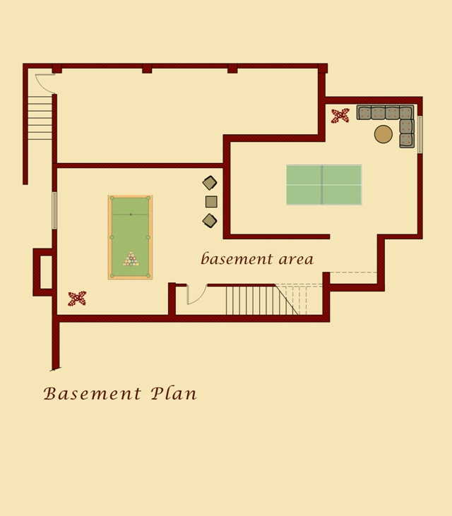 Van Model Basement Plan