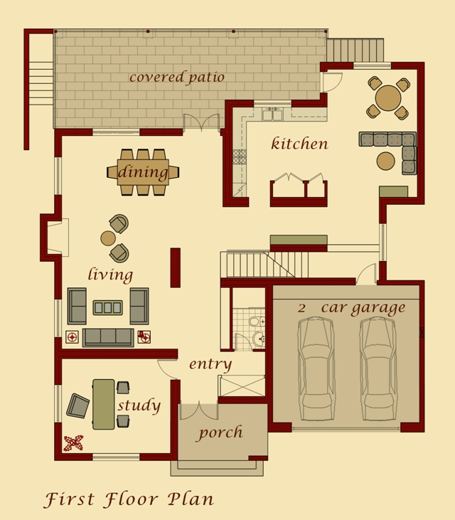 Van Model First Floor Plan
