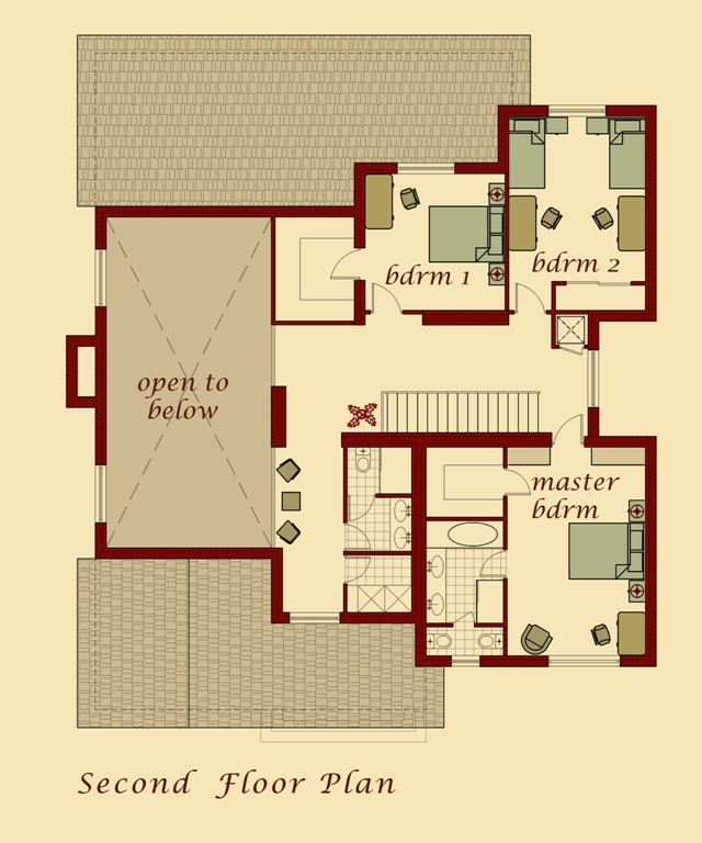 Van Model Second Floor Plan
